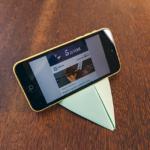 Aprenda a fazer um suporte para celular com papel Chamex