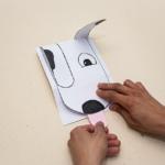 Um presente especial para o Dia das Crianças! Veja Como Se Faz um lindo cartão em formato de cachorrinho.