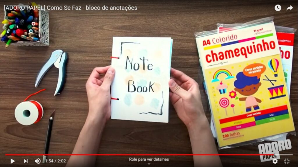 Como Se Faz: aprenda a fazer um bloco de anotações incrível!