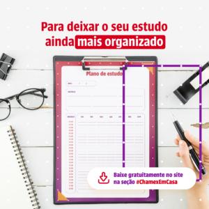 Deixe seu estudo ainda mais organizados com o Plano de Estudos