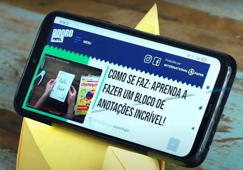 Como Se Faz: porta-celular de papel