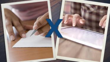 Anotar no papel ou digitar?