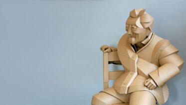 Esculturas de papelão dos Aldeões de Shaoxing