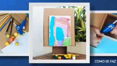 Aprenda a fazer um cavalete de papelão: um aliado para brincar e aprender