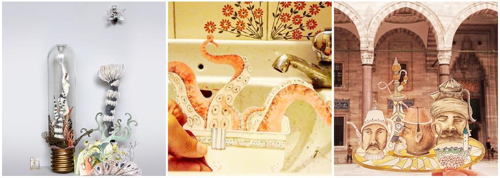 Criatividade surreal! Conheça o trabalho de Teresa Currea, artista visual que faz desenhos e construções com #papel