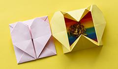 Aprenda a fazer uma linda caixinha em formato de coração