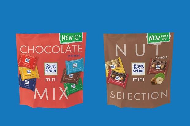 Para compartilhar! Marca de chocolates lança novo pacote de minibarras feito de papel